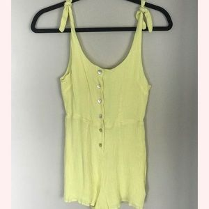 Urban outfitters- yellow romper